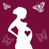 Беременность иллюстрация вектора