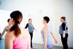 Беременные женщины делают тренировки фитнеса Стоковые Фото