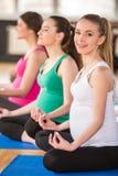 Беременные женщины на спортзале Стоковые Фото