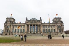БЕРЛИН, ГЕРМАНИЯ - здание Reichstags Здание Reichstag историческое строение в Берлине Стоковые Фотографии RF