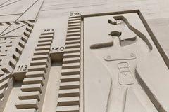 БЕРЛИН, ГЕРМАНИЯ - ИЮЛЬ 2014: Модульный человек на бортовой стене c Стоковые Изображения RF
