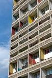 БЕРЛИН, ГЕРМАНИЯ - ИЮЛЬ 2014: Corbusier Haus было конструировано мимо Стоковая Фотография