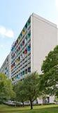 БЕРЛИН, ГЕРМАНИЯ - ИЮЛЬ 2014: Corbusier Haus было конструировано мимо Стоковая Фотография RF