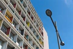 БЕРЛИН, ГЕРМАНИЯ - ИЮЛЬ 2014: Corbusier Haus было конструировано мимо Стоковое фото RF