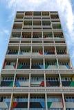 БЕРЛИН, ГЕРМАНИЯ - ИЮЛЬ 2014: Corbusier Haus было конструировано мимо Стоковое Фото