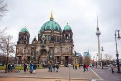 25 01 2018 Берлин, Германия - красивый вид исторического Берлина c Стоковое фото RF