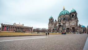 25 01 2018 Берлин, Германия - красивый вид исторического Берлина c Стоковые Фотографии RF