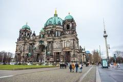 25 01 2018 Берлин, Германия - красивый вид исторического Берлина c Стоковые Изображения