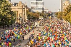 Берлин, Германия, 16 09 2018: Берлин-марафон 2018 BMW стоковые фотографии rf