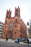 25 01 2018 Берлин, Германия - Нео-готическая церковь Friedrichswerder Стоковые Изображения