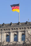 БЕРЛИН, ГЕРМАНИЯ - 11-ОЕ АПРЕЛЯ 2014: Здание Reichstag Стоковые Фото