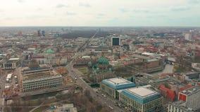 Берлин, Германия - 28-ое марта 2019 r собор 4K Берлина видеоматериал