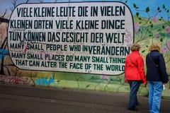 Берлин, Германия - 21-ое сентября 2015: Галерея Ист-Сайд Берлинской стены Стоковые Изображения