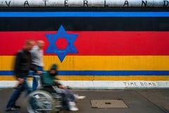 Берлин, Германия - 21-ое сентября 2015: Галерея Ист-Сайд Берлинской стены Стоковое Изображение
