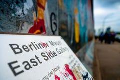 Берлин, Германия - 21-ое сентября 2015: Галерея Ист-Сайд Берлинской стены Стоковое Фото