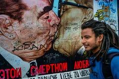 Берлин, Германия - 21-ое сентября 2015: Галерея Ист-Сайд Берлинской стены Стоковая Фотография