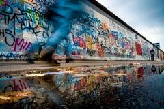 Берлин, Германия - 21-ое сентября 2015: Галерея Ист-Сайд Берлинской стены Стоковое фото RF