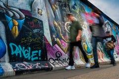 Берлин, Германия - 21-ое сентября 2015: Галерея Ист-Сайд Берлинской стены Стоковое Изображение RF