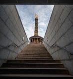 БЕРЛИН, ГЕРМАНИЯ - 25-ОЕ СЕНТЯБРЯ 2012: Столбец победы в Берлине, Германии Siegessaule Стоковое Изображение RF