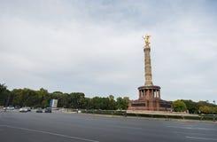 БЕРЛИН, ГЕРМАНИЯ - 25-ОЕ СЕНТЯБРЯ 2012: Столбец победы в Берлине, Германии Siegessaule Стоковое Изображение