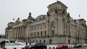 БЕРЛИН - ГЕРМАНИЯ, 8-ое января 2016, Reichstag видеоматериал