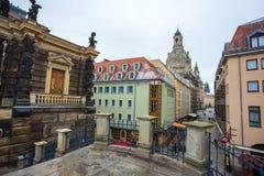 22 01 2018 Берлин, Германия - старый исторический квартал и stre Стоковое Изображение