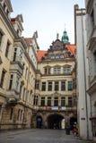 22 01 2018 Берлин, Германия - старый исторический квартал и stre Стоковая Фотография
