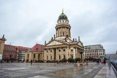25 01 2018 Берлин, Германия - церковь в квадрате Gendarmenmarkt внутри Стоковое фото RF