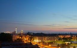 Берлин на ноче с башней ТВ Стоковые Изображения RF