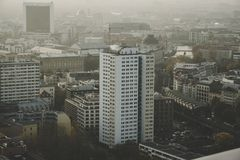 Берлин туманный понедельник 37th стоковое изображение