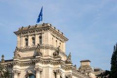 БЕРЛИН, GERMANY/EUROPE - 15-ОЕ СЕНТЯБРЯ: Reichstag в Берлине Стоковые Изображения RF