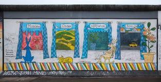 Берлинская стена в Германии Стоковое Фото