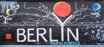 Берлинская стена в Германии Стоковые Изображения