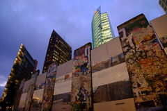Берлинская стена, Potsdamer Platz Стоковое Фото