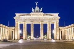 Берлин Германия на стробе Бранденбурга Стоковые Фотографии RF