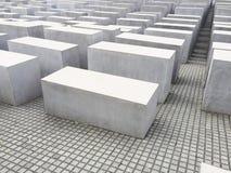 Берлин, Германия - 5-ое августа 2015: Еврейский мемориал холокоста, Берлин, Германия Стоковое Изображение