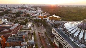 Берлин, Германия, - 29-ое августа 2015: Platz Potsdamer сверху сток-видео