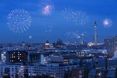 Берлин новое Year& x27; s Eve стоковое изображение