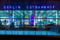 Берлин Ostbahnhof (железнодорожный вокзал Берлина восточный) Стоковые Изображения