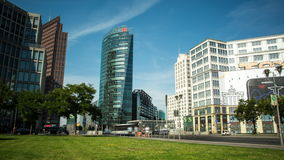Берлин, Potsdamer Platz, промежуток времени сток-видео