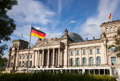 Берлин Reichstag Стоковое Изображение
