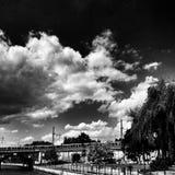 Берлин sightseeing Художнический взгляд в черно-белом Стоковое Изображение