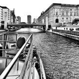 Берлин sightseeing Художнический взгляд в черно-белом Стоковое фото RF