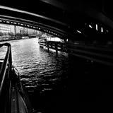 Берлин sightseeing Художнический взгляд в черно-белом Стоковое Изображение RF