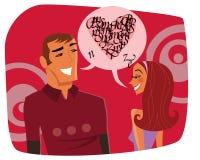 беседа влюбленности Стоковое Изображение