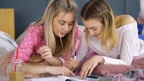Беседа девушек переговора связи bff друзей Стоковая Фотография RF