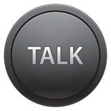 беседа кнопки Стоковые Изображения RF