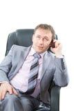 беседа мобильного телефона босса Стоковое Изображение RF