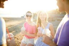 Беседа на пляже Стоковое фото RF
