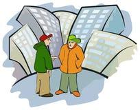 беседа улицы Стоковое фото RF